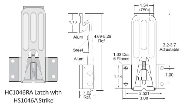 1046RA Series Latch