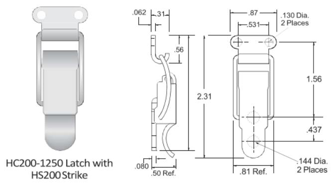 200-1250 Series Latch
