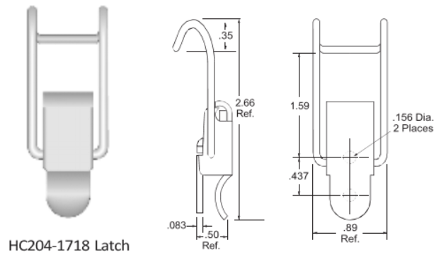 204-1718 Series Latch