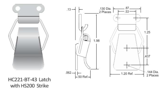 221-BT-43 Series Latch