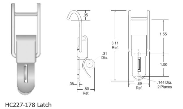 227-1718 Series Latch