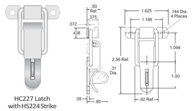 227 Series Straight loop latch