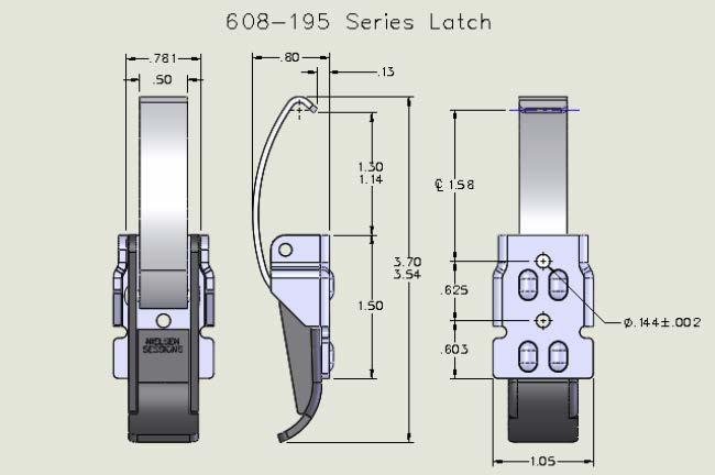 608-195 Series Latch