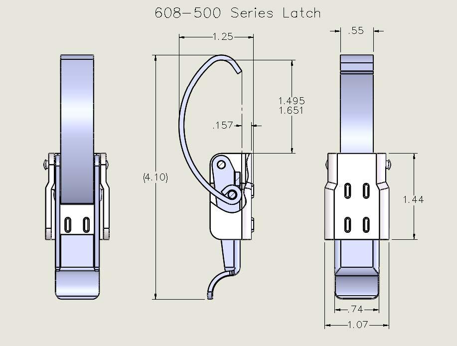 608-500 Series Latch