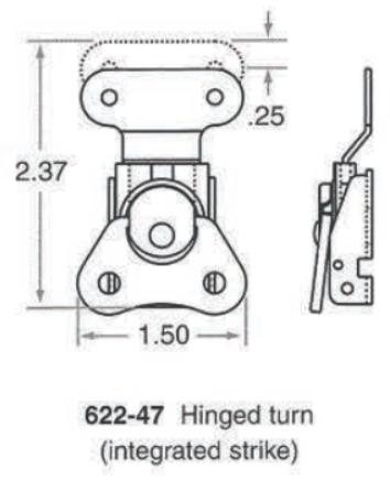 622-47 Hinged Turn Catch