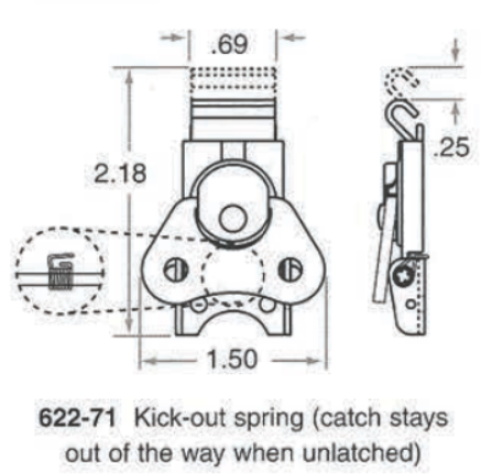 622-71 Kick-out Spring Catch