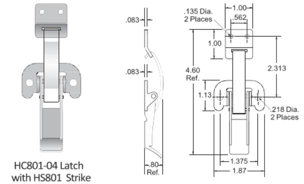 801-4 Series Latch