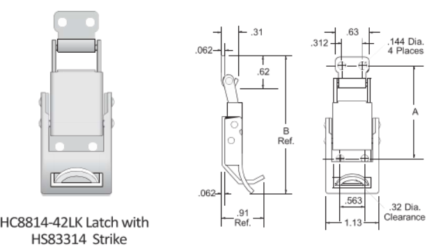 83314-42LK Series Latch