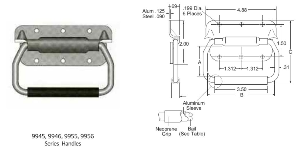 9945-9946-9955-9956 Series Handle
