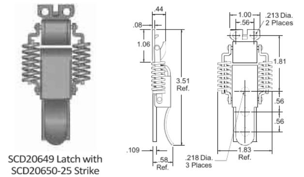 SCD20649 Series Latch